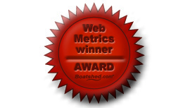 Web metrics winner award